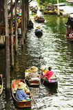 DAMNOEN SADUAK, TAILANDIA Fotografia Stock