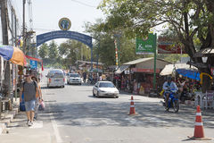 Damnoen Saduak town centre Thailand Royalty Free Stock Photos
