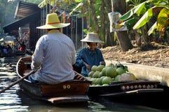 damnoen spławowego targowego saduak Thailand Obrazy Royalty Free