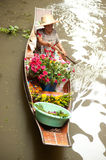 Damnuan Saduak floating market in Middle of Thailand. Stock Photography