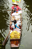 Damnuan Saduak floating market in Middle of Thailand. Stock Photos