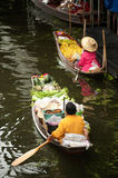 Damnuan Saduak floating market in Middle of Thailand. Stock Images