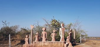 Damoh. Sculpture india pictures Royalty Free Stock Image