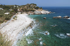Damouchari beach at Pelion in Greece Royalty Free Stock Image