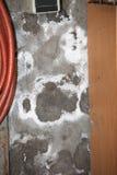 Damp basement walls. Moldy, damp basement walls in a house Stock Photo