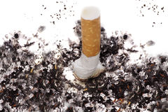 Damp cigarette Stock Images