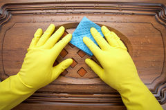 Damp cleaning Royalty Free Stock Image
