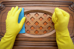 Damp cleaning Stock Image