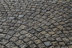 Damp cobble stone Royalty Free Stock Image