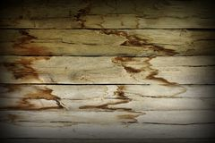 Damp effects on wood wall Royalty Free Stock Image