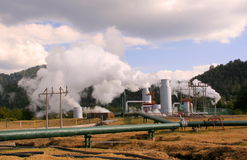 Damp en energie Royalty-vrije Stock Foto's