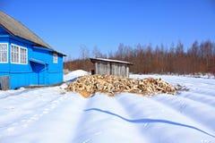 Damp firewood Stock Image