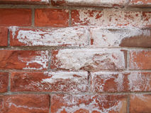 Damp moisture. Damage caused by damp and moisture on a brick wall Stock Photo