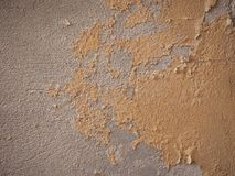 Damp moisture on wall. Damage caused by damp and moisture on a wall Stock Photo