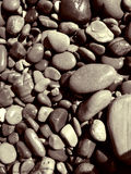 Damp And Sandy Beach Stones. Part of my sepia toned retired couple on the beach series. Keyword series1rc to see the entire series with background and detail Stock Photography