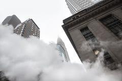 Damp van straat ondergronds in NYC Stock Afbeeldingen