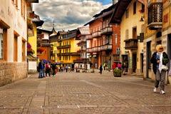 DAmpezzo Cortina городского пейзажа, Италия Стоковое Изображение
