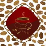 Dampf über einem Tasse Kaffee. lizenzfreie abbildung