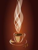 Dampf über einem Tasse Kaffee. Vektor EPS10 Stockfotografie