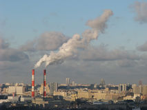 Dampf über Stadt Lizenzfreies Stockbild
