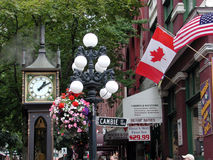 Dampf-Borduhr, Vancouver BC Kanada Stockfotografie
