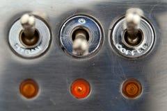 Dampf ein und Kaffeeschalter Lizenzfreies Stockfoto
