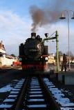 Dampf-Eisenbahn - choo-choo, Sachsen, Deutschland Stockbild