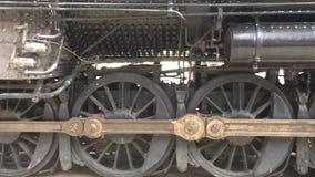 1926 Dampf-Lokomotivantriebsräder stock footage