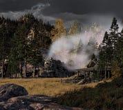 Dampf-Lokomotive Stockfotografie