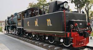 Dampf-Lokomotive auf Anzeige im Freien in Bangkok, Thailand Stockfotos