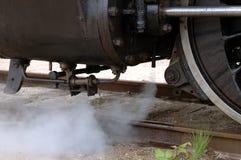 Dampf-Lokomotivnahaufnahme Stockfotos