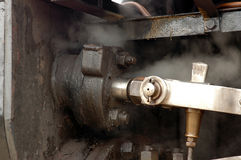 Dampf-Lokomotivnahaufnahme Lizenzfreie Stockfotos