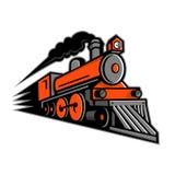 Dampf-Lokomotivschnellfahrenmaskottchen Lizenzfreie Stockfotos