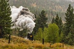 Dampf-Lokomotivzug Okanagan-Tal nahe Summerland-Britisch-Columbia Kanada stockbilder