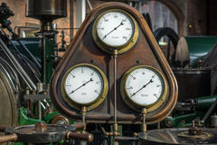 Dampf-Manometer Stockbild