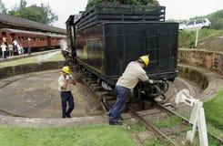 Dampf-Motor-Lokomotive Lizenzfreies Stockbild