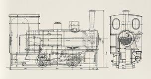 Dampf-Motor Plan Lizenzfreie Stockfotografie