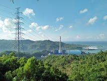 Dampf-Strom-Kraftwerk stockbild