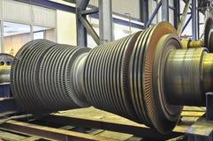 Dampf-Turbine des Kohlenwärmekraftwerks stockfoto