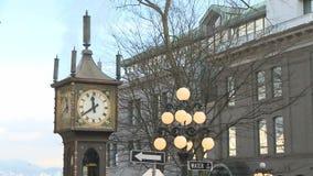 Dampf-Uhr in Gastown stock footage