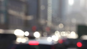 Dampf von Autos stock footage