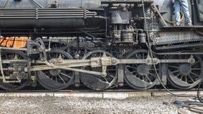 Dampf-Zug-Antriebszahnrad lizenzfreie stockfotografie
