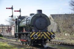 Dampf-Zug bei Ramsbottom Lancashire Stockfotografie