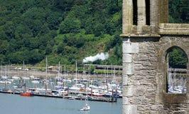 Dampf-Zug in Dartmouth, Devon Lizenzfreies Stockfoto
