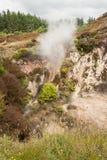 Dampfentlüftung an vulkanischer Zone Taupo stockbilder