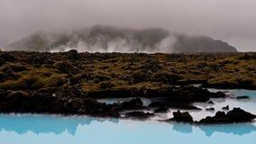 Dampfige isländische Landschaft Stockfotos