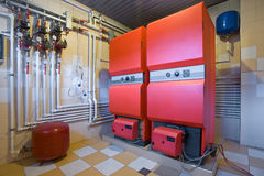 Dampfkesselraum stockfoto