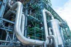 Dampfleitung mit Wärmedämmung stockfotos