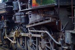 Dampflokomotivarbeiten Stockfotos