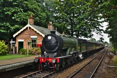 Dampflokomotive in England Lizenzfreie Stockfotografie